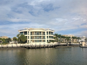One of the many opulent mansions you see on your Bluewater Cruise on the Nerang River in Surfers Paradise.