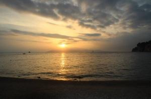 Sunset at Makarska Beach