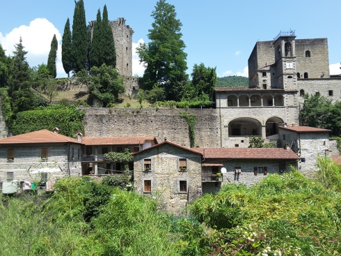 Castello della Verrucola, home to the works of famous Italian artist, Pietro Cascella.