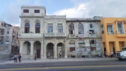 Buildings along the Melacon in Havana, Cuba.