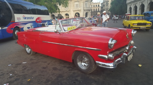 One of the classic cars you can take a taxi ride in while in Havana, Cuba.