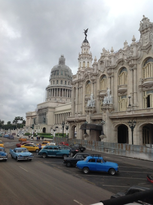 One of Havana's oldest and most classic hotels, the Hotel Inglaterra on Parque Central.