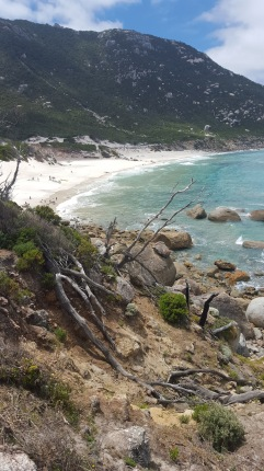 The rocky approach to Little Oberon Bay at Wilson's Prom.